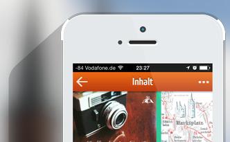Vorschaubild: iPhone mit App