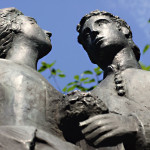 Skulptur Hallorenbrautpaar im Saline Park